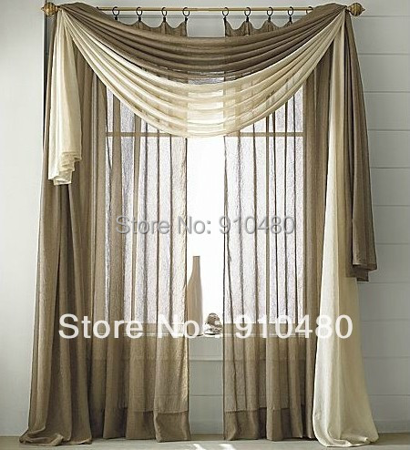 Contemporary Living Room Curtains With Valance Best Swag For