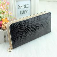 Fashion PU Leather Bag Wallet Ladies' Women's Purses Ladies' Handbags Clutch Bag Free Shipping