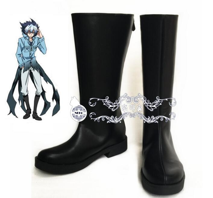 Anime SERVAMP Sleepy Ash Black Cat Kuro Vampire cat punk cosplay costume boots lolita punk shoes(China (Mainland))