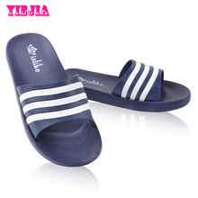 Men Slippers Summer Beach Shoes 2015 Leather Sandals Fashion Slides Slip On House Pool Shower Shoes For men(China (Mainland))