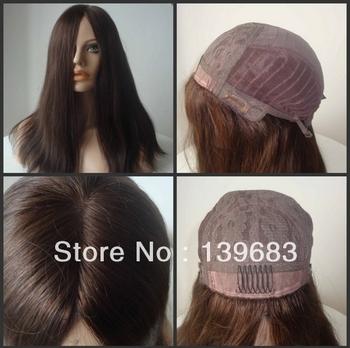 "HOT Fashion Queen Hair products 20""#3 virgin European hair Jewish wig kosher wigs free shipping"