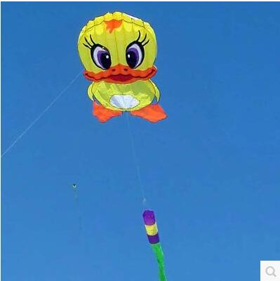 free shipping high quality 6m giant duck soft kite ripstop nylon fabric kite weifang festival large kite wheel walk in sky toys(China (Mainland))