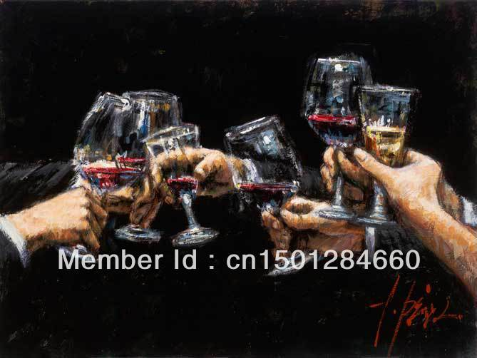 Study For Celebration Fabian Perez Art wine oil painting no frame modern wall art on canvas hand painted home decors(China (Mainland))
