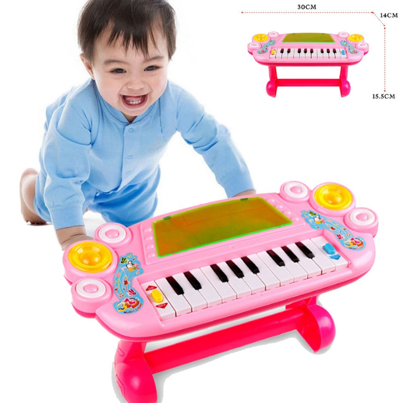 Mini Plastic Baby Cute Piano Music Toy Kids Musical Educational Piano Cartoon Animal Farm Developmental Toys for Children Gift(China (Mainland))
