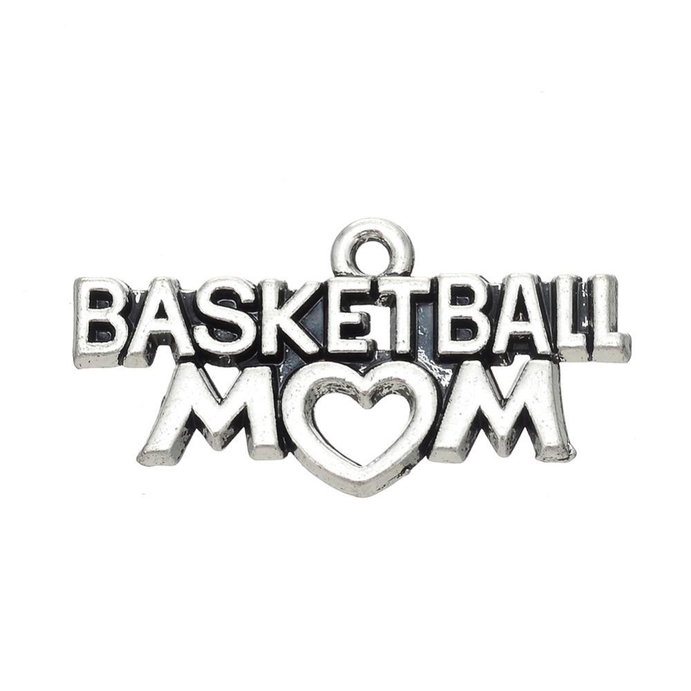 20Pcs Tibetan Silver Message Basketball Mom Charm Jewelry<br><br>Aliexpress