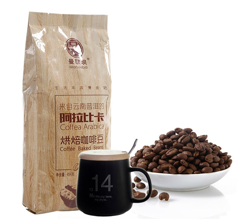 Yunnan small grain of coffee beans High altitude fresh roasted 454 g fragrance thick Free shipping