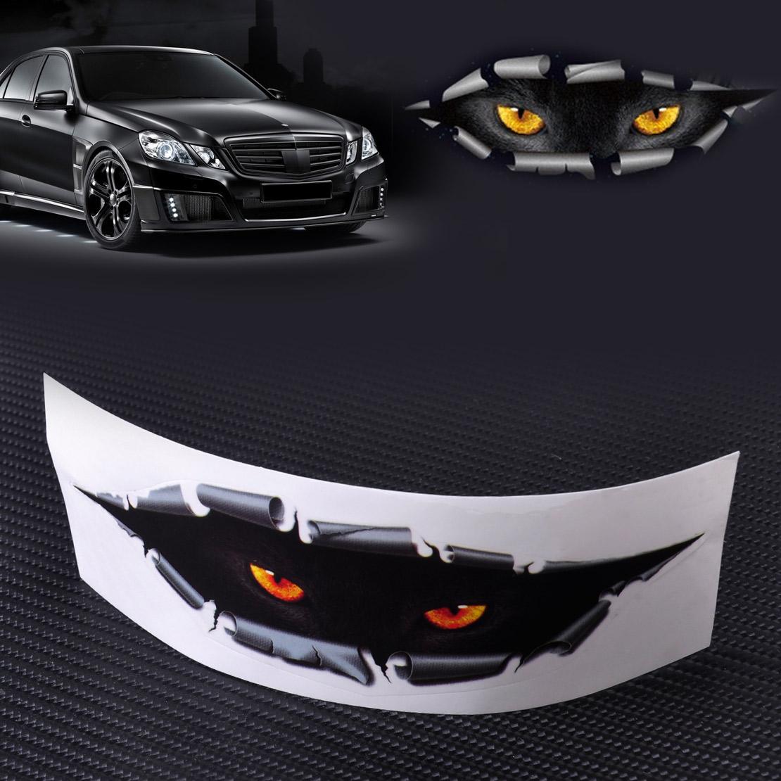 Design a car decal online - Car Styling Funny 3d Simulation Monster Leopard Eye Peeking Sticker Decal Auto Car Window Mirror Trucks