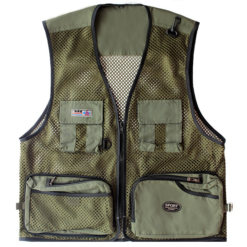 Summer Men Fly Fishing Vests Multifunctional Fly Fishing Jacket Outdoor Photography Jacket Camo Fishing Vest Fishing Clothes