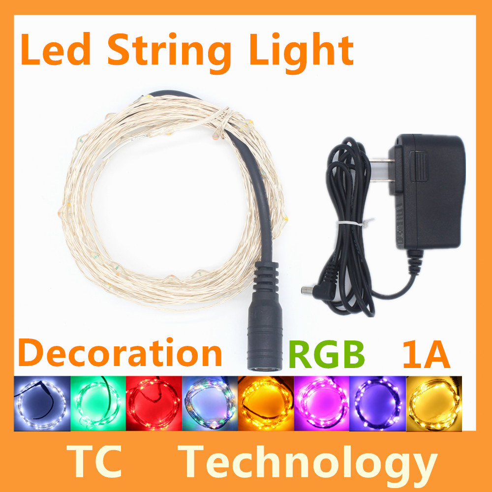 50LED 5M DC12V LED String Lights For Navidad Wedding Party Decoration Lights Natal Christmas Tree Garland With 1A Power Adapter(China (Mainland))