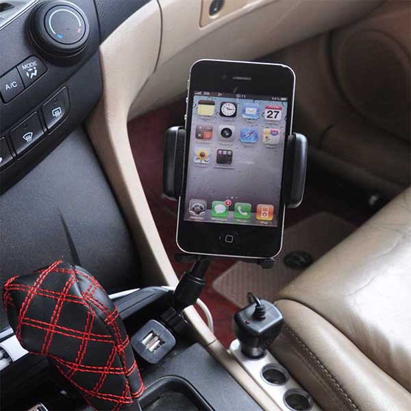Phote Holder New 2015 Fashion Car Accessories Holder Car-Styling Double USB Car Charger Stents Car Styling Stand to Phone<br><br>Aliexpress