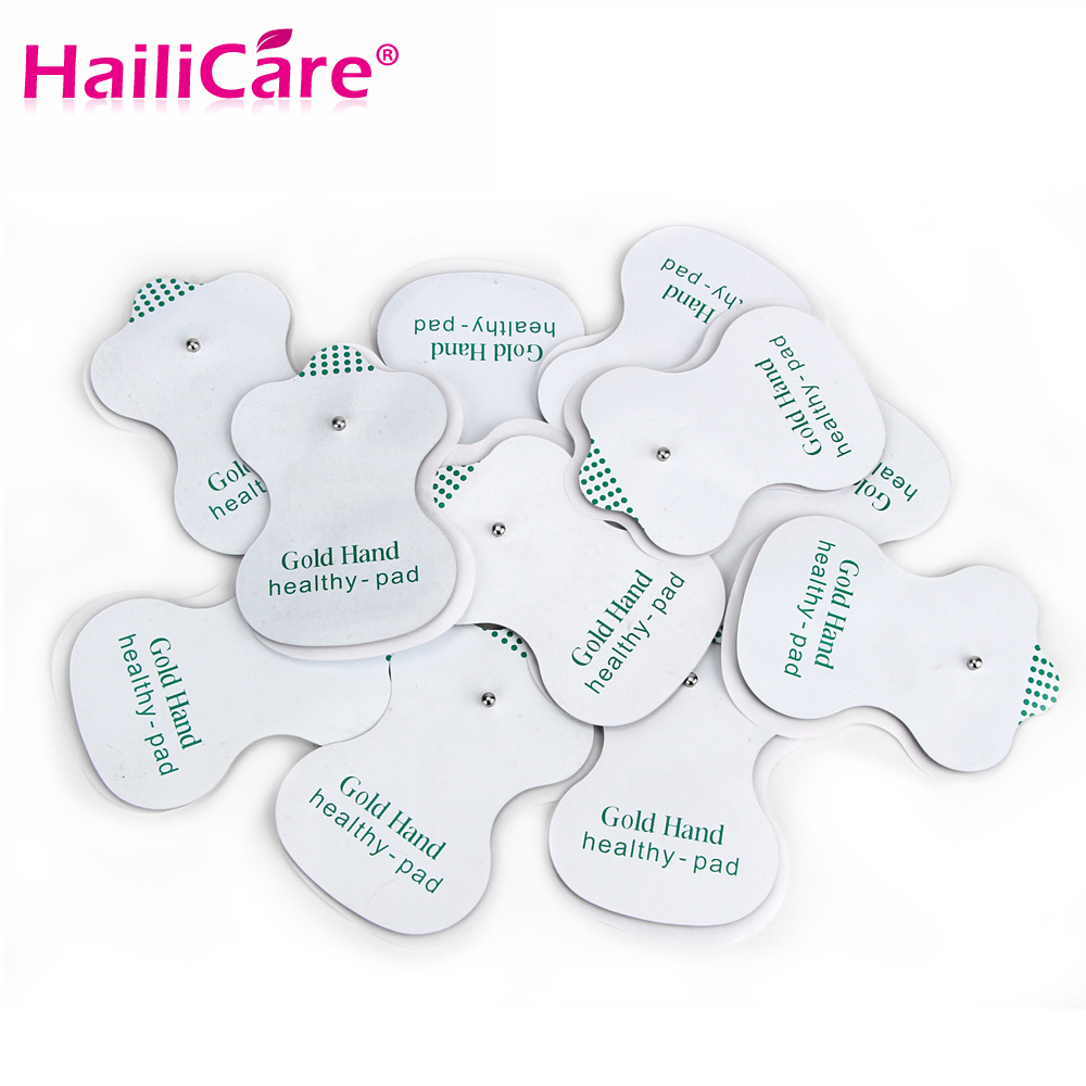 50pcs/lot Good Quality white Electrode Pads for Tens Acupuncture,Digital Therapy Machine Massager Health pads