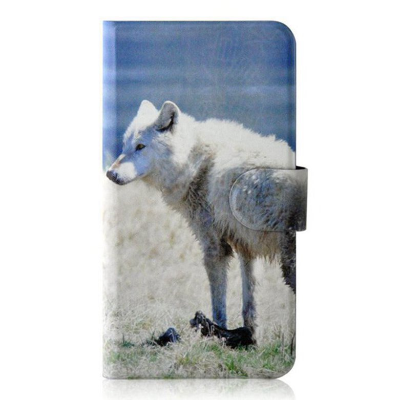 """Hot Sale Prairie Wolf skeleton Personality Unique Card slot PU Leather Flip Case Cover For iPhone 6s 4.7 inch 4.7""""(China (Mainland))"""