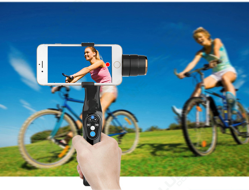 Free shipping!New Xiaoji JJ JJ-1 2-Axis ABS Handheld Gimbal Brushless Stabilizer for Smartphone Iphone 6