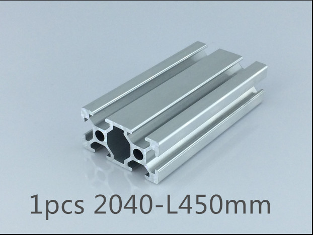 1pcs 2040 aluminum extrusion profile length 450mm width 40mm high 20mm industrial aluminum profile for cnc engraving machine(China (Mainland))