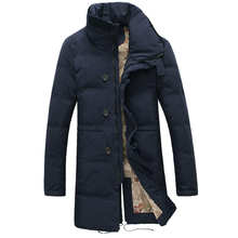 For -30 Degree Temperature Size 44-52 Plus Size Warm Winter Jacket Men Long Stand Collar Casual Cotton Down Parkas For Men(China (Mainland))