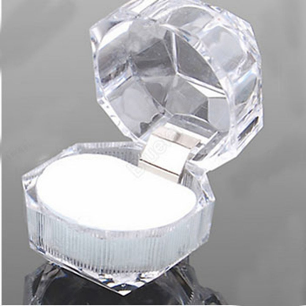 Acrylic Ring Earring Box Clear Gift Box Display Case Clear Holder Decor BEST(China (Mainland))