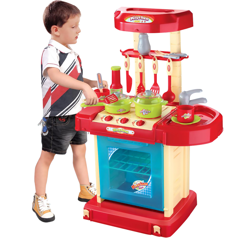 Magicaf kitchen set toy 115 child artificial sooktops for Kitchen set portable
