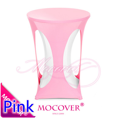 Pink Spandex High Bar Cocktail Table Top Cover Lycra