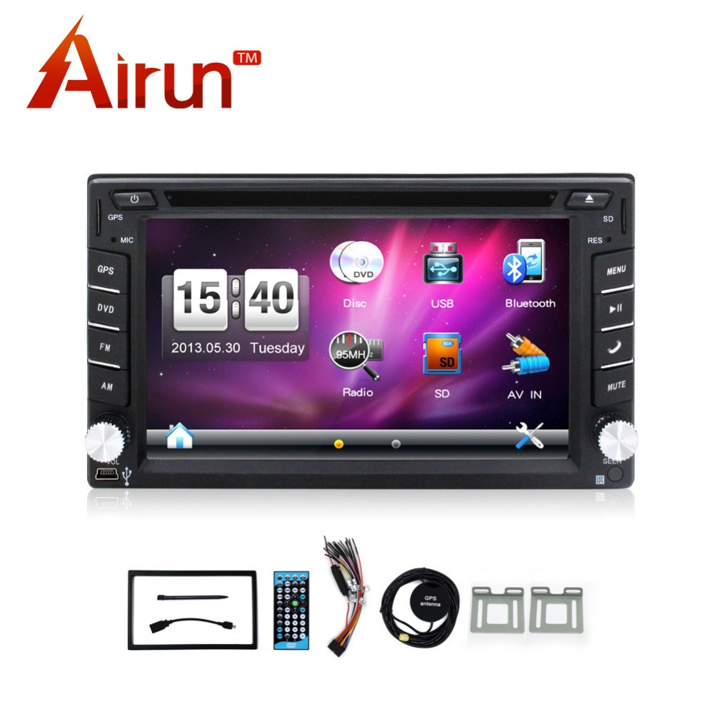 New universal Cheap Car Radios Double 2 din car dvd player Best In Dash Navigation Car PC Stereo Head Unit video+Free Map Card(China (Mainland))