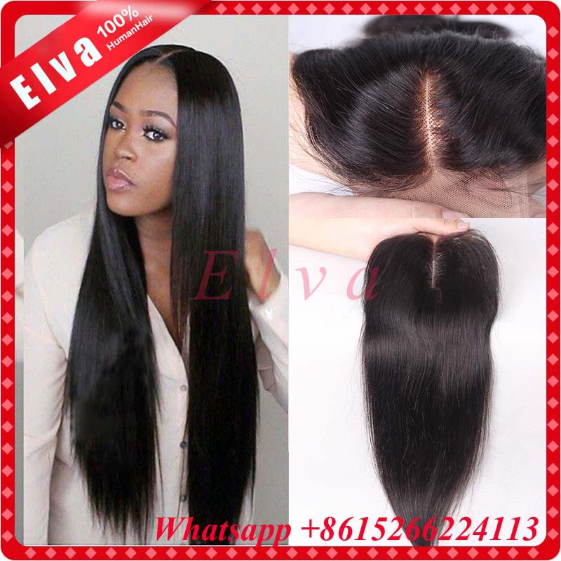 4*4 unprocessed brazilian virgin remy closure silk straight, can be colored, all bleached knots, nice French lace, free shipping<br><br>Aliexpress