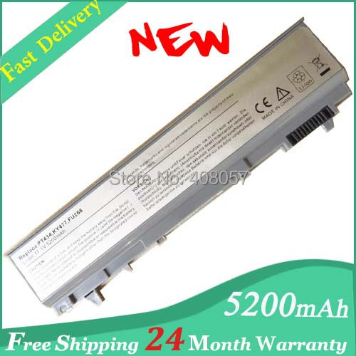 Replacement 6Cell Laptop Battery PT434 PT435 KY477 FU274 FU571 MP303 MP307 NM631 NM633 For Dell Latitude E6400 E6500 E6410 E6510(China (Mainland))