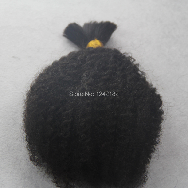 HOT Sale Brazilian Human Hair Afro Kinky Curly Bulk Hair For Braiding Unprocessed Human Hair For Braiding Bulk No Attachment