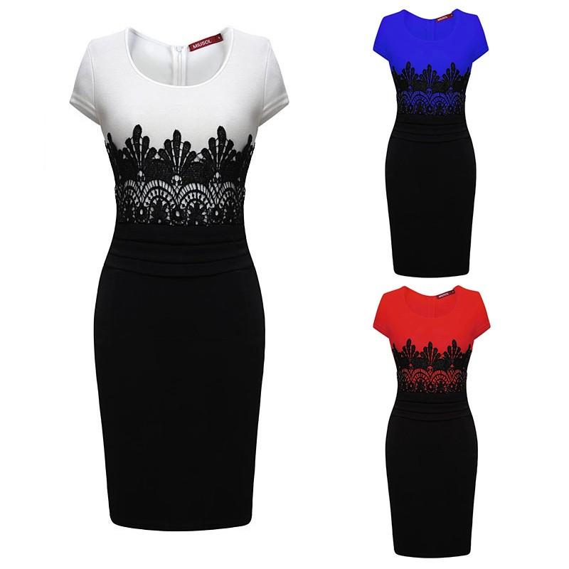 2017 Sexy Vestidos Women Party Dresses OL Pencil Dress Summer Sleeveless Bodycon Midi Ladies Casual Slim Lace Large Size Dress