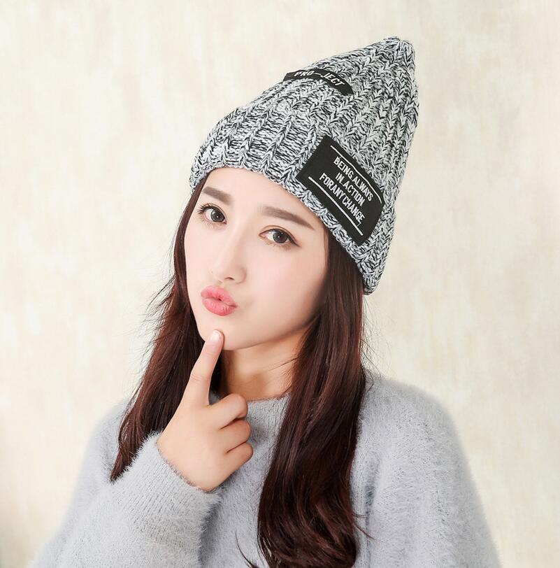 Spring Women Cap Knitted Cat Hat Skullies & Beanies Women Beanies Brand Beanies Cap Casual Solid Color(China (Mainland))