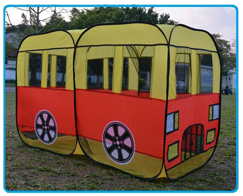 New Style Bus Model Play Game House Children Tent , Novelty Large Play Tents for Kids Present Free Shipping(China (Mainland))