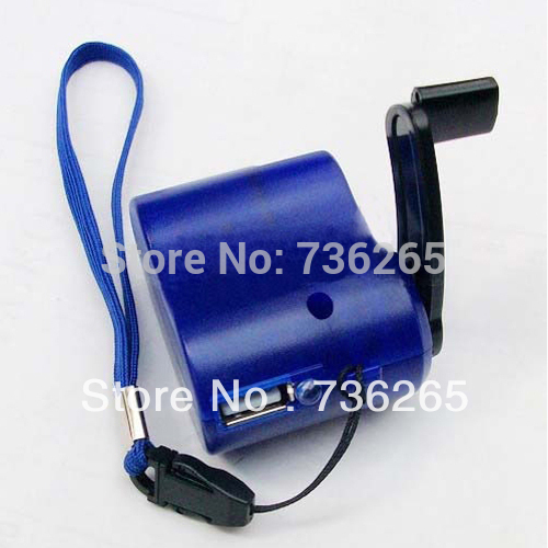 New USB Hand Power Dynamo Torch Charger Cellphone MP3 #1964