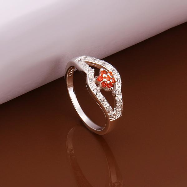 R278 2016 new Girl&Women Nice 925 Sterling silver Fashion jewelry zircon Ring wholesale 925 Silver Ring hot sale(China (Mainland))