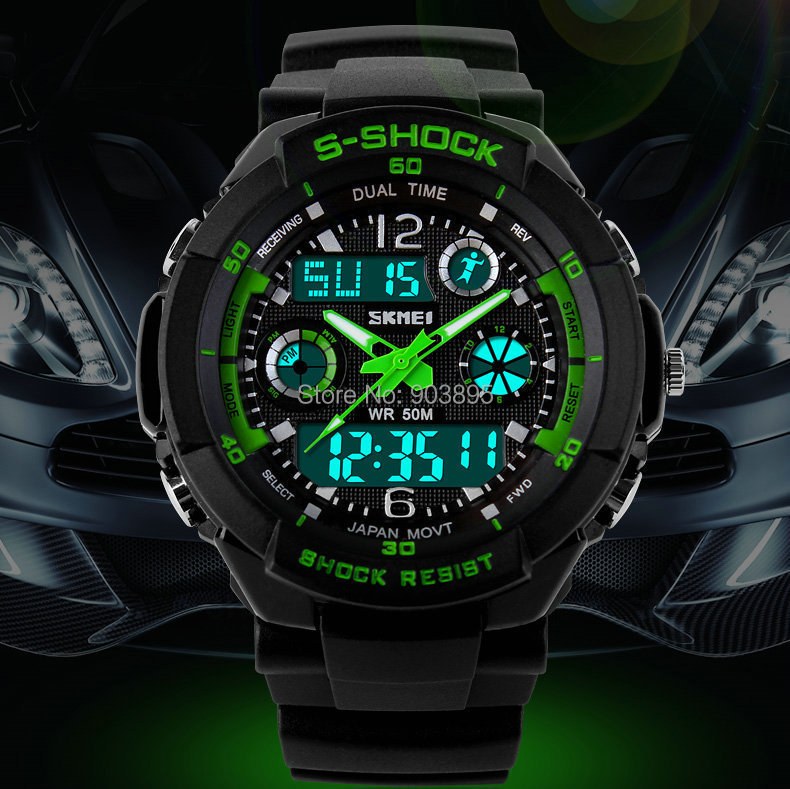 S SHOCK 2015 New SKMEI Luxury Brand Men Military Sports Watches Digital LED Quartz Wristwatches rubber strap relogio masculino(China (Mainland))