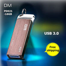 DM PD021 USB Flash Drives 16GB Metal USB 3.0 High-speed pendrive waterproof Business pen drive 16G usb stick Free shipping