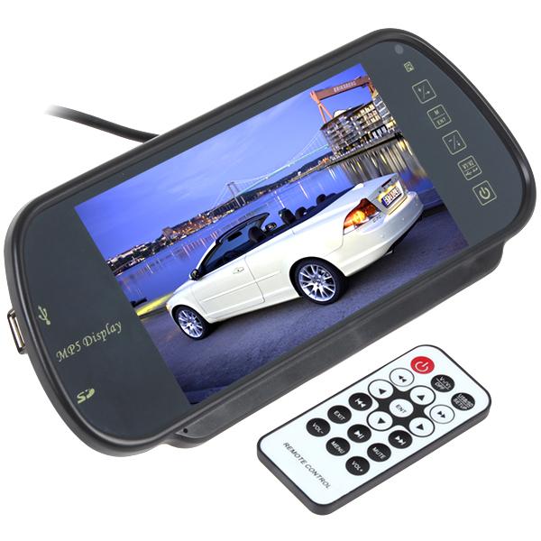 Гаджет  Car Parking Rear View Reverse Mirror Monitor Support MP5 SD/USB FM Radio For Camera DVD, 7