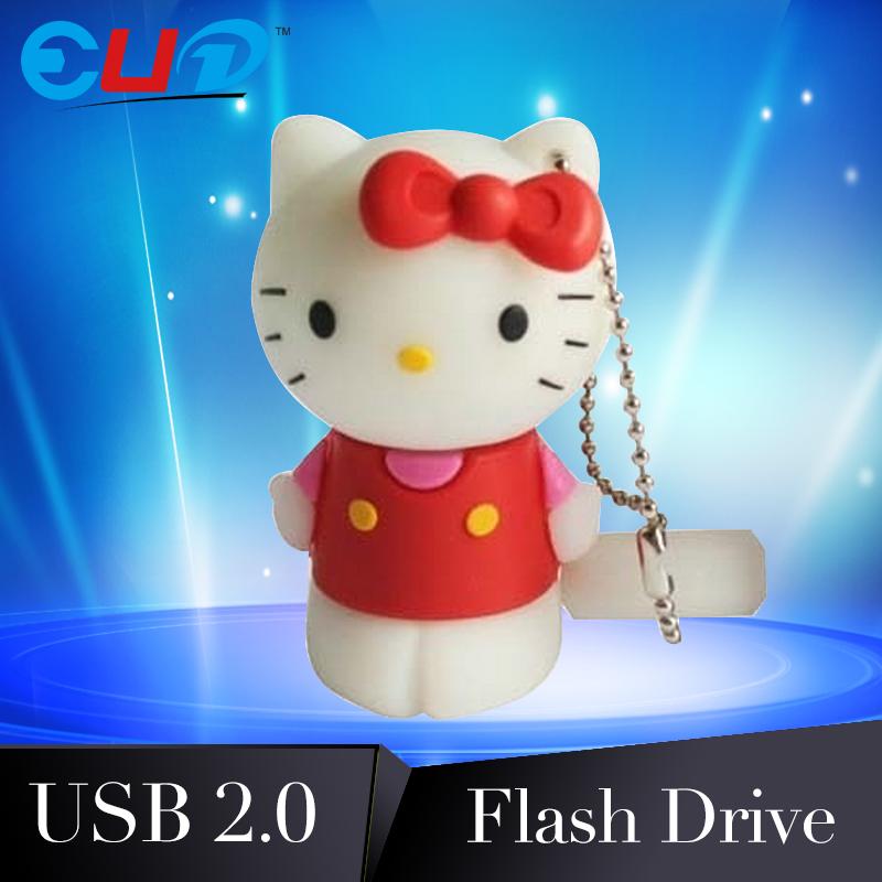 Hello Kitty USB flash drive Carton USB stick Cute USB pen drive real capacity 32gb Pendrive U Disk Flash Card Memory stick(China (Mainland))