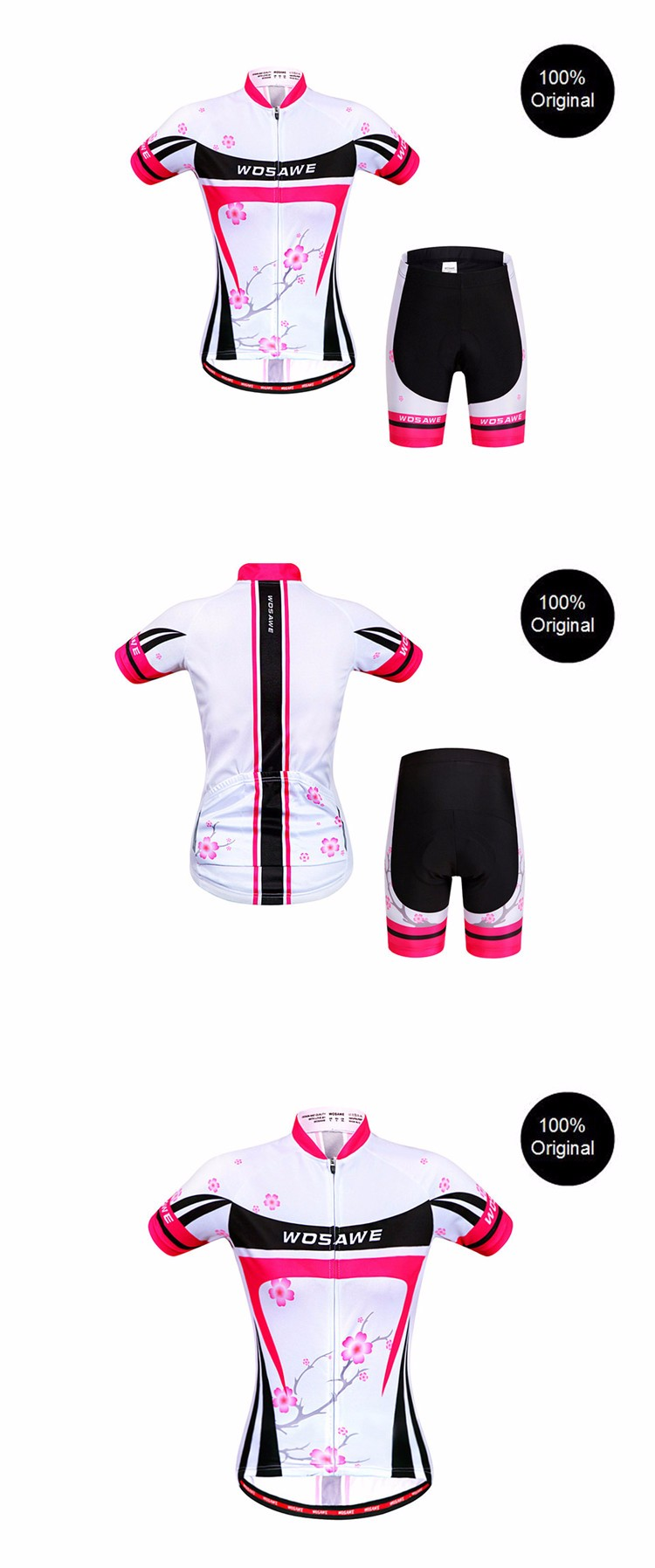 New Women Cycling Sets Summer Custom Special Top Quality Short Sleeve Jersey Gel Pad Best Qualitywomen cycling Clothes QXDT18 JJ