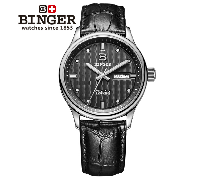 Switzerland watches men luxury brand Wristwatches BINGER business Automatic self-wind leather strap Water Resistance BG-0396-4<br><br>Aliexpress
