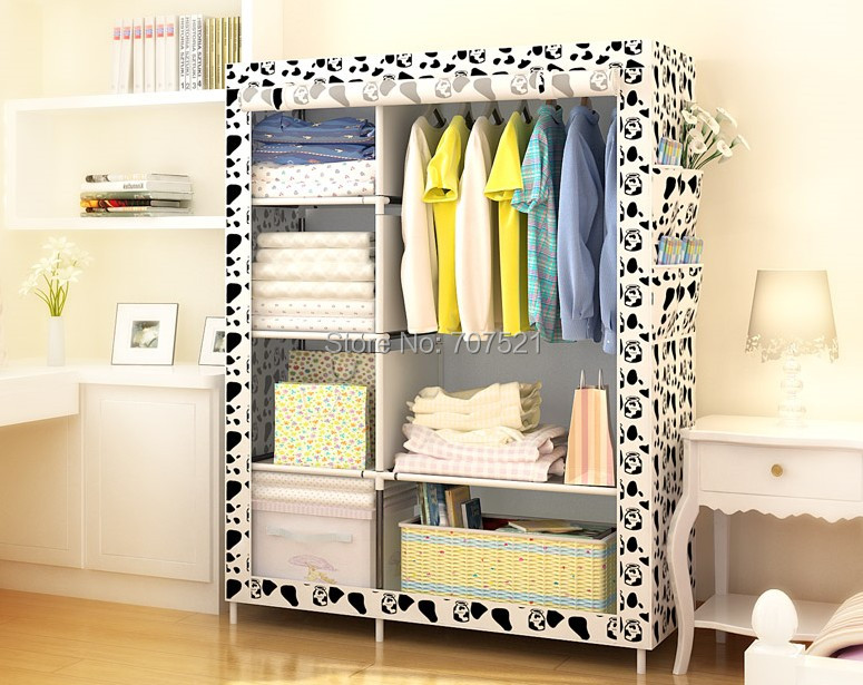 wardrobe closet portable storage cabinet modern bed room home bedroom