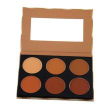 6 Colors Concealer Makeup Palette Face Primer Facial Care Camouflage Foundation Base Cosmetic Cream Palette Kit Hot Selling