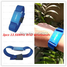 (Free shipping)10pcs high quality 13.56MHz Epoxy and Nylon watchband RFID Wristband NFC Bracelet for Access Control/GymConcerts