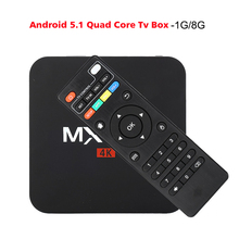 2017 New MXQpro Android TV Box Amlogic S905 Quad Core Android5.1 DDR3 1G HDMI 2.0 WIFI 1080i/p HD 4K Media Player set top box(China (Mainland))