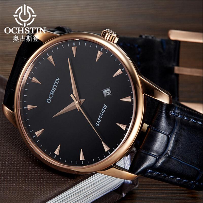 Fashion Casual Mens Watches Luxury Brand OCHSTIN High Quality Leather Business Quartz Watch Men Wristwatch Relogios Masculino(China (Mainland))