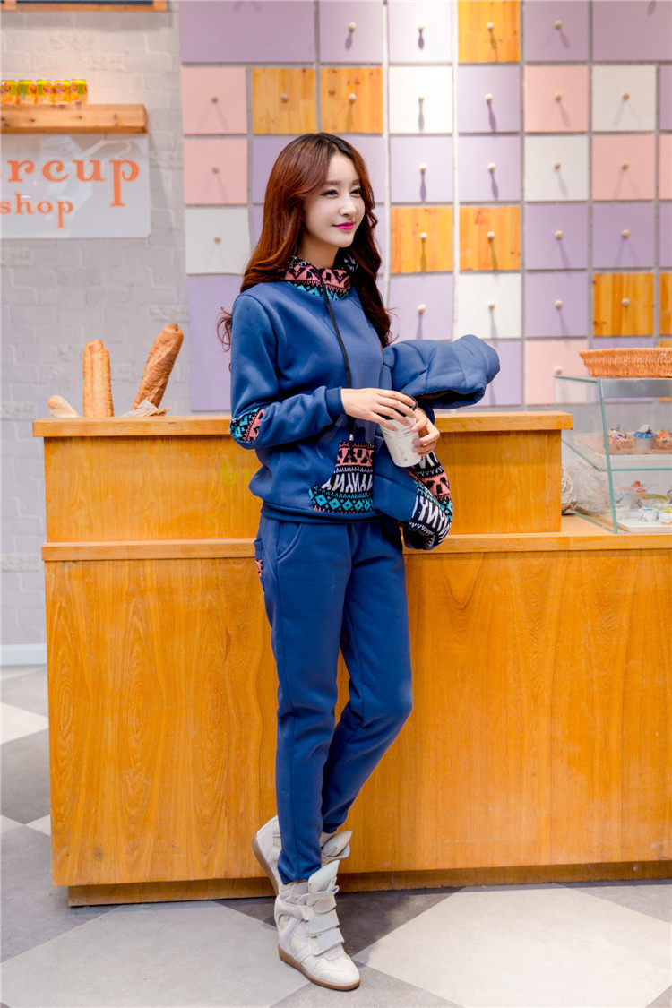European and American trade plus size women was thin Korean version of casual three piece track