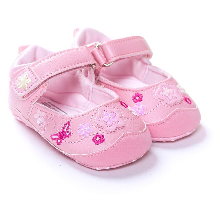 Sweet Pink Leather Princess Girls Kids Mary Jane Flower