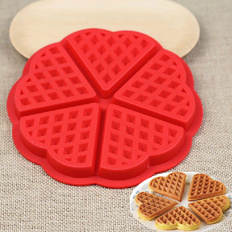 Family Silicone Waffle Mold Maker Pan Microwave Baking Cookie Cake Muffin Bakeware Cooking Tools Kitchen Accessories Supplies(China (Mainland))