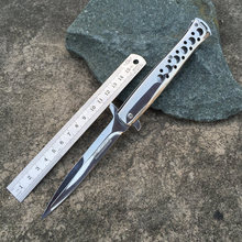 High quality!Stainless steel folding hunting knife camping pocket knife tactical knifes outdoor survival tool rescue tools(China (Mainland))