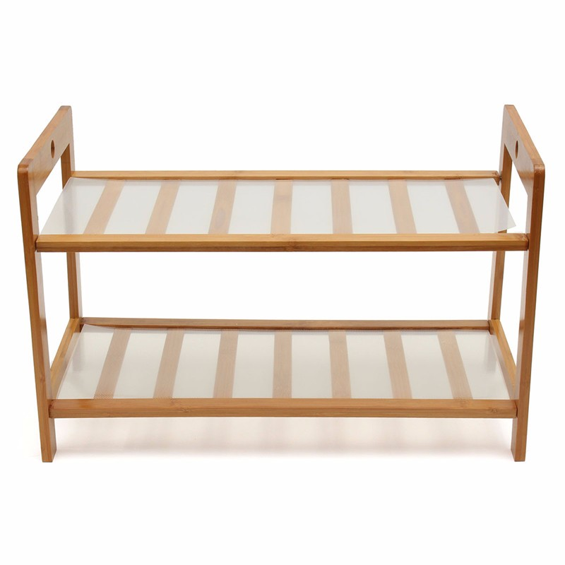 NEW 2 layers 52cm Bamboo Wood Multi-function Shoe Rack Shelf Sitting Room Multilayer Shoe Rack Two-layer(China (Mainland))