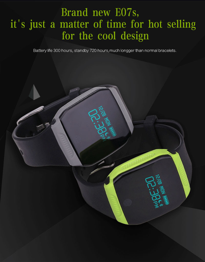 Lemfo Smart Watch E07S Smartwatch Wrist Band Smart Bracelet Pedometer Message Display For IOS and Android Phone