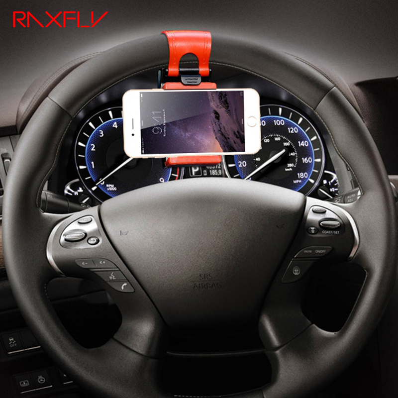 RAXFLY Universal Steering Wheel Navigation Car Socket Holder For iPhone 7 6 6s Plus 5 5s SE Samsung Galaxy S5 S6 S7 Edge Case(China (Mainland))