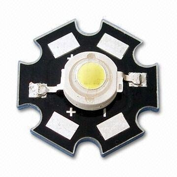 1W High power LED with 2.0 to 2.6V Forward Voltage/450ma;55-65lm;650-660nm;red color; with heatsink